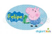 Placa Oval 70x40cm - George Pig GP1
