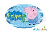 Placa Oval 70x40cm - George Pig GP3
