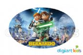 Placa Oval 70x40cm - Lego Star Wars