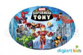 Placa Oval 70x40cm - Super Hero